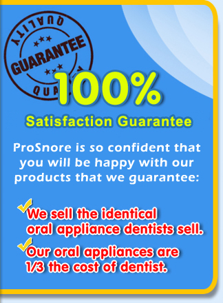 ProSnore - 100% MONEY BACK GUARANTEE